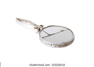 Old broken mirror
