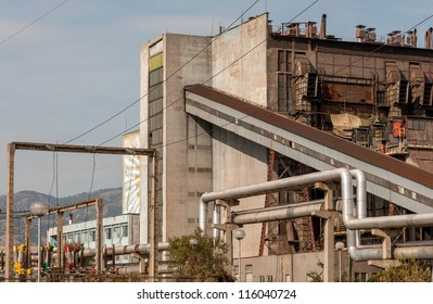 Old and broken thermal power plant