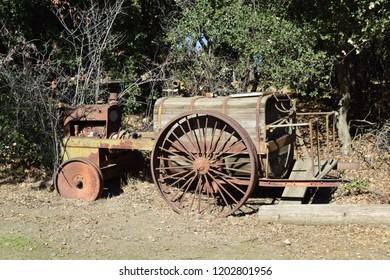 Old broken tractor