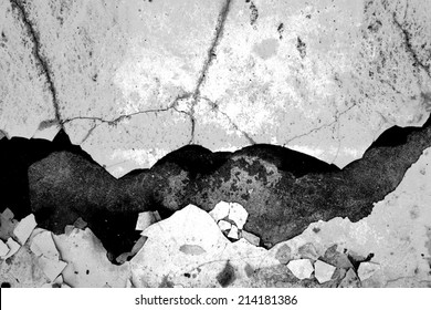 Old Broken Wall,Use As Horror Scene