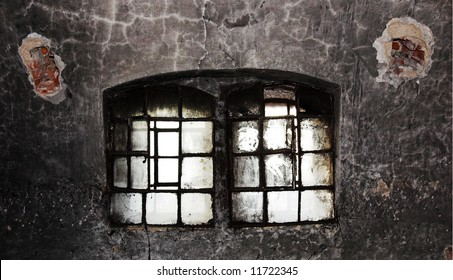 Old broken window