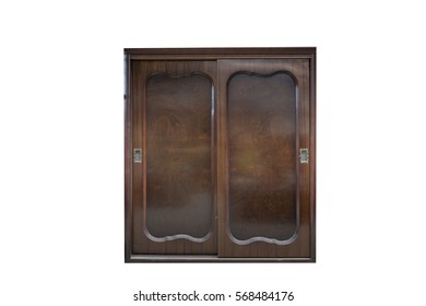 Old Brown Cabinet isolated on white