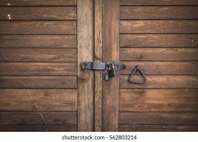 Old Brown Cellar Door