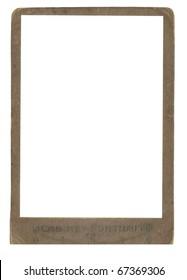 Old brown frame