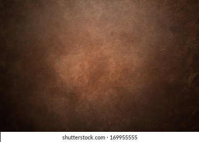 Old brown leather background - Shutterstock ID 169955555