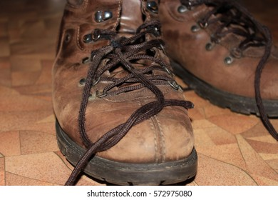 old brown leather shoes