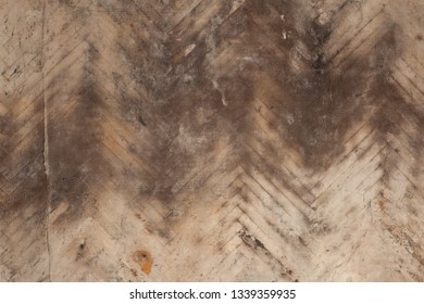 Old brown linoleum, which for a long time lay on the floorboard. Grunge texture background