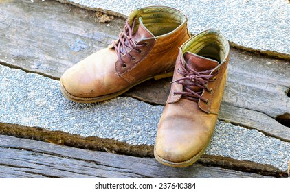 old brown man shoes