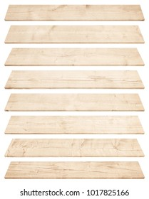 Old brown perspective wooden planks isolated on white background. 3D rendering