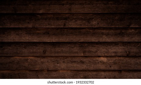 Old brown rustic dark wooden boards texture - wood timber background