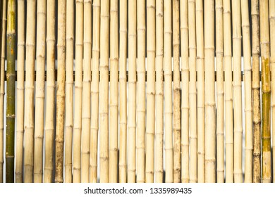 Old brown tone bamboo plank fence texture for background.bamboo fence background.