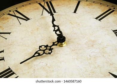 Old brown vintage clock background