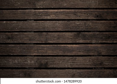 Old brown wooden background. Timber texture. Wood planks. Rustic style