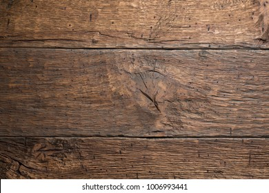 Old brown wooden planks background, natural wood vintage texture.