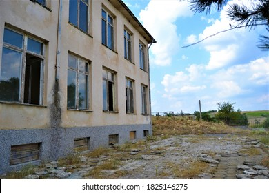 Old and brownfield school in bulgarian village
