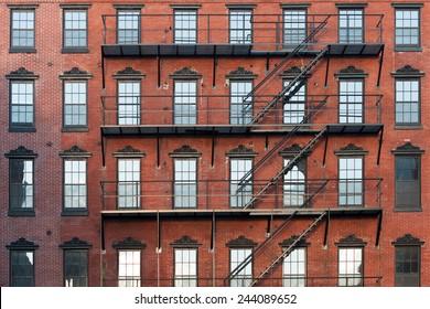 Old brownstone apartment building in center city Philadelphia