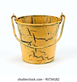 Old bucket isolated on a white background