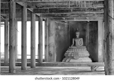 Old Buddha image at Wat Tham Sae Tham in KhonKaen, thailand