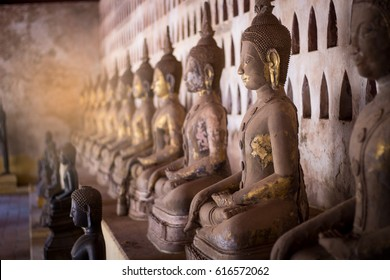 Old buddha statue in laos (Vientiane, Laos)