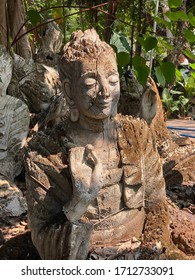 old Buddha statue in Thailand