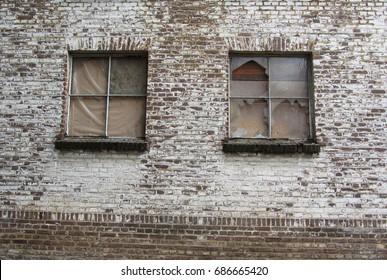 Old building with broken windows