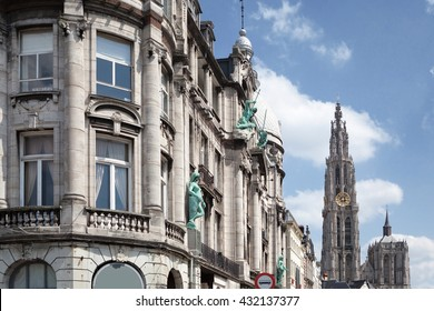 Old building in the city of Antwerp