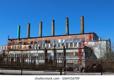 The old building of the cogeneration plant