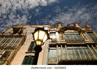 Old building in Europe at evening