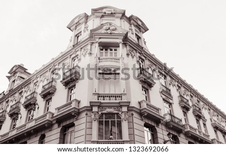 Old Building facade in Madrid