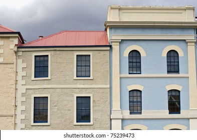 Old building facades, Hobart, Tasmania