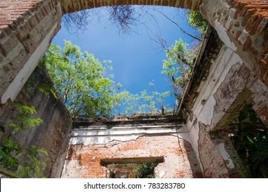 Old building in frame