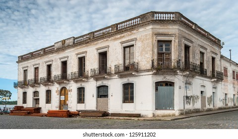 An old building in historic neighborhood in Colonia del Sacramento, Uruguay