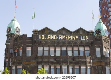 Old building of the Holland America Line in Rotterdam. Place where the ships to New York left is now a famous hotel.