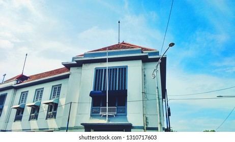 An old building in Kota Lama Semarang,Central Java, Indonesia.  The building was builded by VOC over years ago.