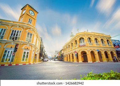 A old building landmark at Phuket Thailand