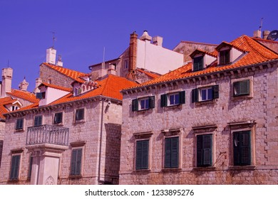 Old building in the medieval town of Dubrovnik, Croatia