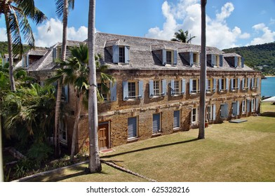 Old Building at Nelson's Dockyard in Antigua, Caribbean Sea