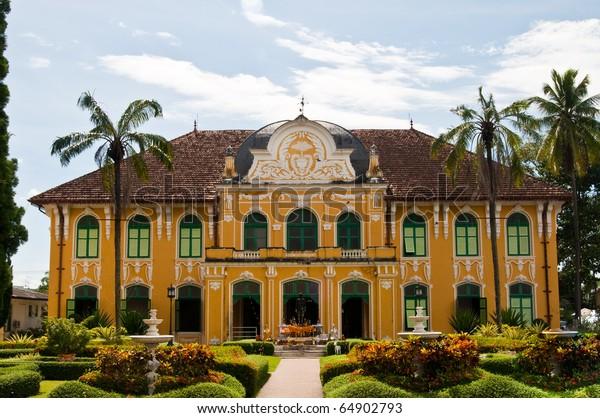 Old Building at Prachinburi province, Thailand.