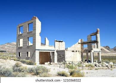 Old Building In Rhyolite Ghost Town Nevada