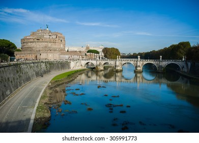 Old building in Rome with bridge