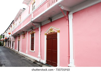 Old building Sino Portuguese style in Phuket town, Thailand