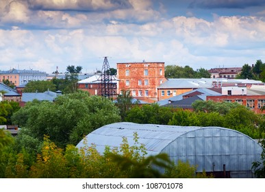 The old building of textile factories in Ivanovo. Russia