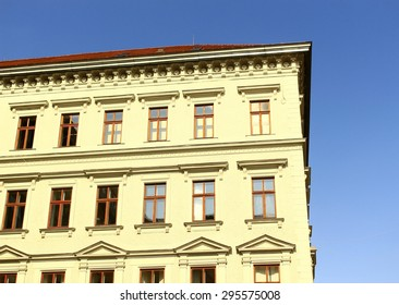 old building wall with windows