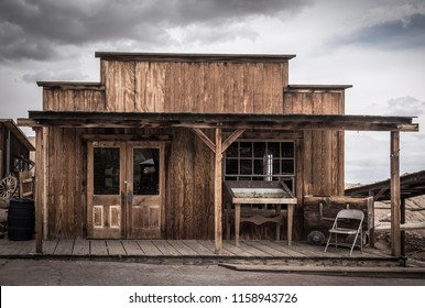 Old building in wild western USA town