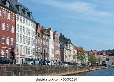 Old buildings by Slotsholmen canal in Copenhagen
