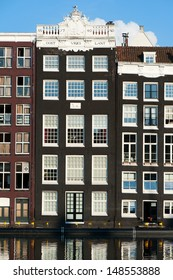 Old buildings at the canal in Amsterdam