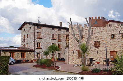 Old buildings converted into beautiful vacation homes outside the popular town, Lucca