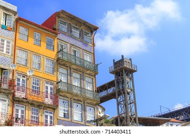 Old buildings in downtown Porto city, Portugal