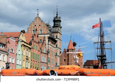 Old buildings in Gdansk harbor - Poland