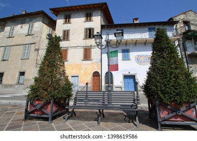 old buildings in riva di solto village in italy